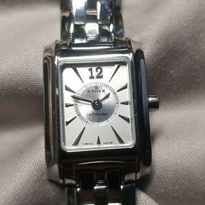 Edox Les Fontaines Quartz Watch, Swiss made
